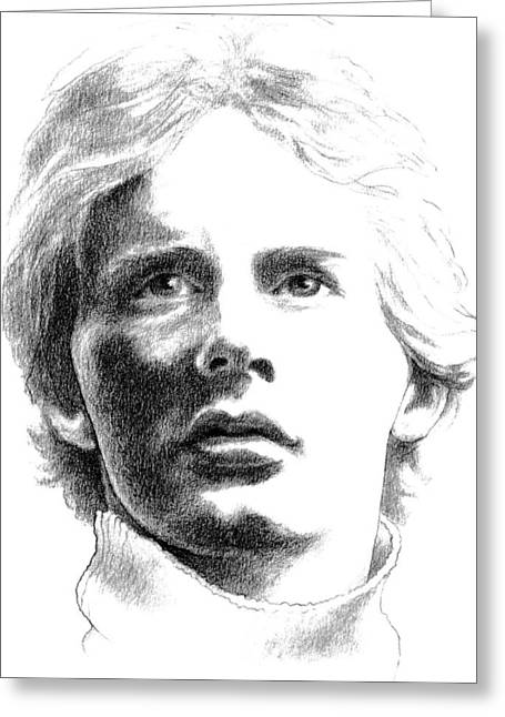 Diane Fine Greeting Cards - Gilles Villeneuve Greeting Card by Diane Fine