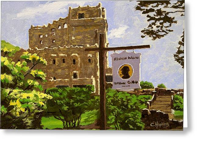 Gillette Castle East Haddam Connecticut Greeting Card by Christine Hopkins