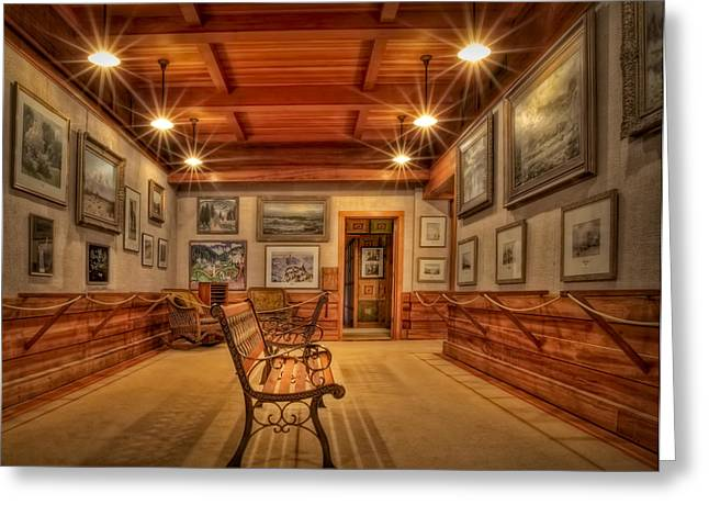 Gillete Castle Greeting Cards - Gillette Castle Gallery Room Greeting Card by Susan Candelario