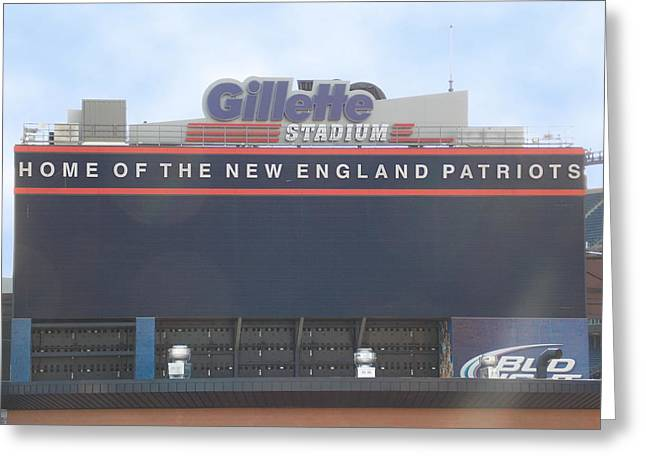Foxboro Greeting Cards - Gillette Stadium Greeting Card by Catherine Gagne