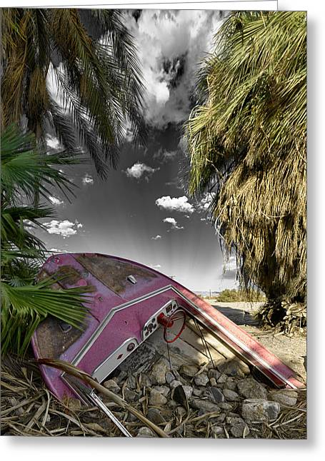 Salton Sea Greeting Cards - Gilligans Island Black and White 1 Greeting Card by Scott Campbell