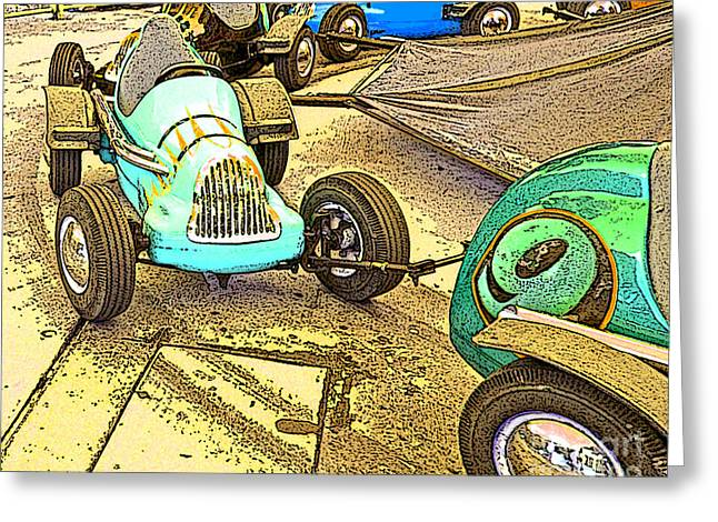 Laura Wrede Greeting Cards - Gilroy Gardens Old Cars Greeting Card by Artist and Photographer Laura Wrede