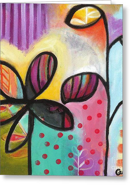 Carla Bank Greeting Cards - Gimme Shelter Greeting Card by Carla Bank