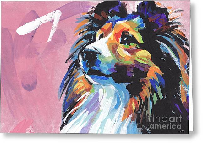 Sheltie Greeting Cards - Gimme Sheltie Greeting Card by Lea