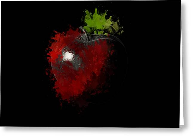 Apple Picking Greeting Cards - Gimme that Apple Greeting Card by Lourry Legarde