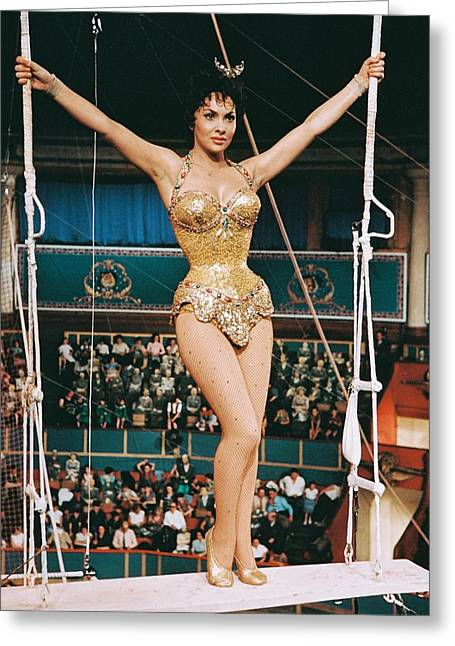 Gina Greeting Cards - Gina Lollobrigida in Trapeze  Greeting Card by Silver Screen