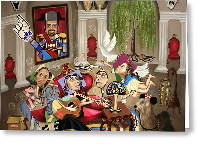 Cubism Prints Greeting Cards - Ginas Journey Greeting Card by Anthony Falbo