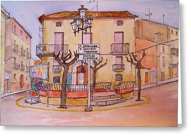 Catalunya Paintings Greeting Cards - Ginestar in winter Greeting Card by Molly Farr