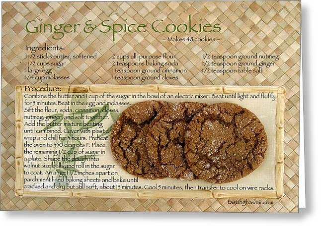 Ginger And Spice Cookies Greeting Card by James Temple