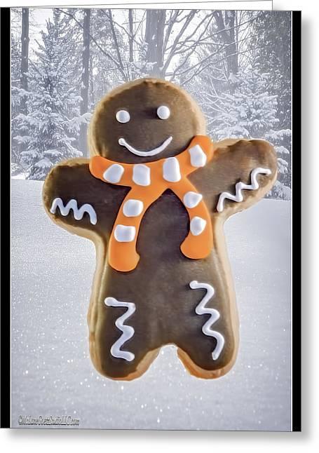 Milk And Cookies Greeting Cards - Ginger Bread Man Greeting Card by LeeAnn McLaneGoetz McLaneGoetzStudioLLCcom