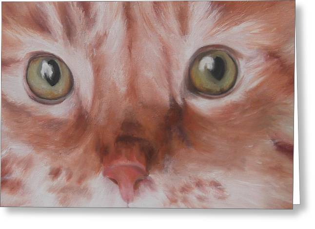 Mog Greeting Cards - GingeR Greeting Card by Cherise Foster