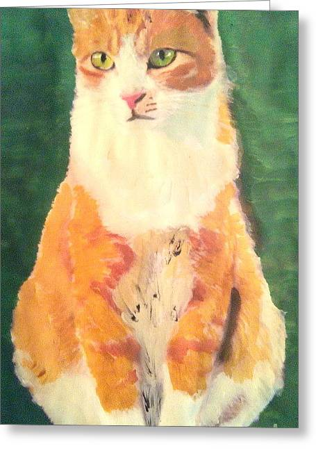 Bob Ross Paintings Greeting Cards - Ginger Greeting Card by John Morris