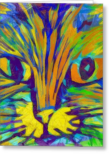 Pink Nose Greeting Cards - Ginger Kitty Greeting Card by Michelle Calkins