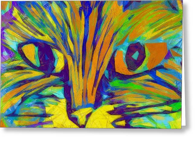 Ginger Kitty Greeting Card by Michelle Calkins