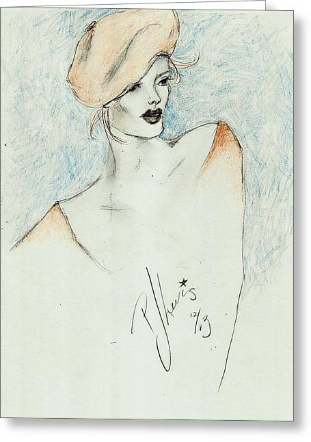 Woman In Color. Women In Color Greeting Cards - Ginger Greeting Card by P J Lewis