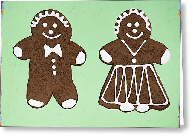 Cookie Greeting Cards - Ginger Pair Greeting Card by David Palmer