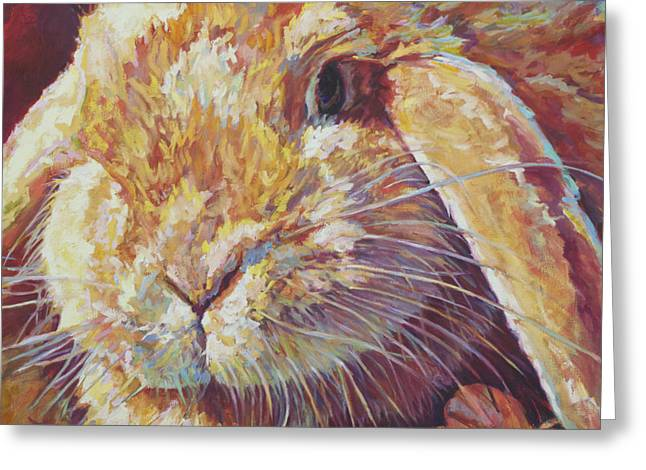 Hare Greeting Cards - Ginger Greeting Card by Patricia A Griffin