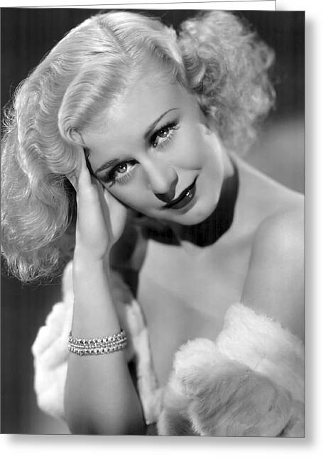 Academy Awards Oscars Greeting Cards - Ginger Rogers Greeting Card by Daniel Hagerman