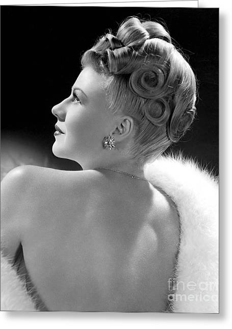 Movie Greeting Cards - Ginger Rogers Greeting Card by MMG Archives