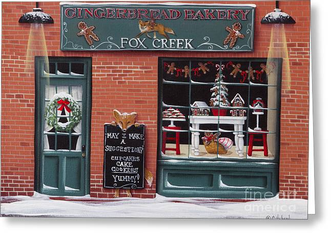 Catherine Greeting Cards - Gingerbread Bakery at Fox Creek Greeting Card by Catherine Holman