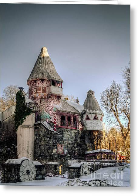 Weird New Jersey Greeting Cards - Gingerbread Castle Greeting Card by Jeffrey Miklush
