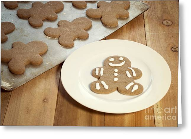 Yuletide Greeting Cards - Gingerbread Cookies Greeting Card by Juli Scalzi