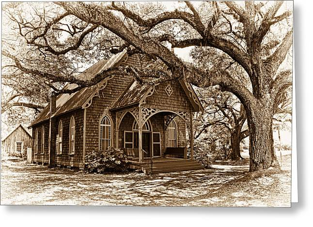 Up And Coming Greeting Cards - Gingerbread Country Church Greeting Card by Marcia Colelli