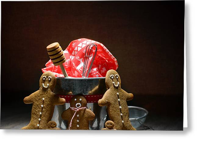 Dipper Greeting Cards - Gingerbread Family Greeting Card by Amanda And Christopher Elwell