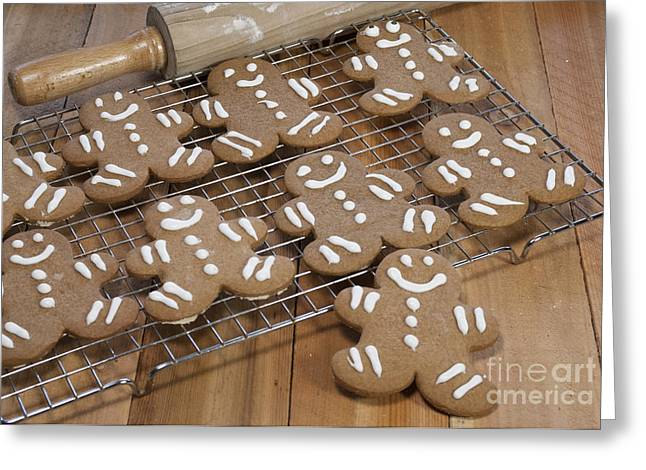 Gingerbread Man Cookies Greeting Card by Juli Scalzi