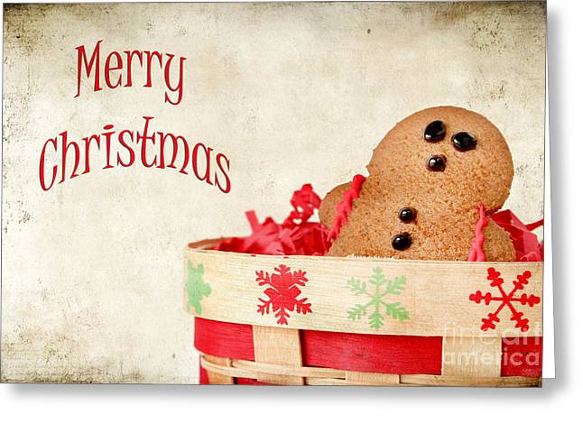 Frosting Greeting Cards - Gingerbread Man Greeting Card by Darren Fisher