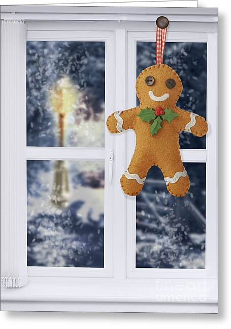 Interior Scene Photographs Greeting Cards - Gingerbread Man Decoration Greeting Card by Amanda And Christopher Elwell