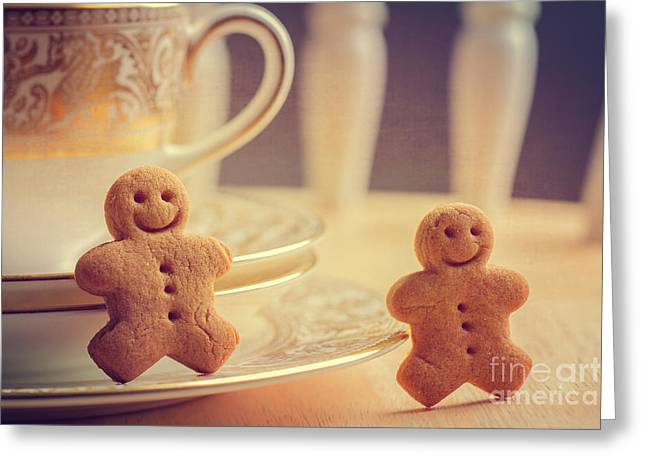 Warm Tones Photographs Greeting Cards - Gingerbread Men Greeting Card by Amanda And Christopher Elwell