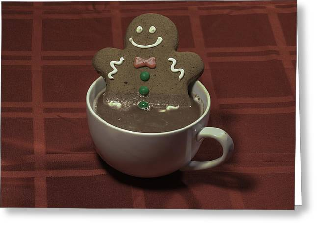 Dunk Cookies Greeting Cards - Gingerbread Spa Greeting Card by Greg Thiemeyer