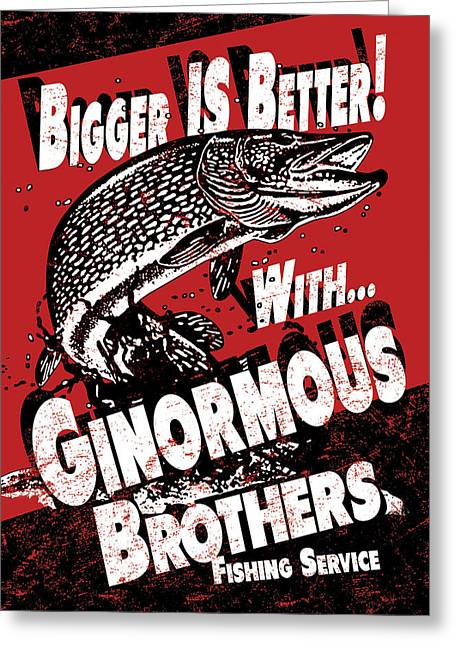 Northern Pike Greeting Cards - Ginormous Brothers Greeting Card by JQ Licensing