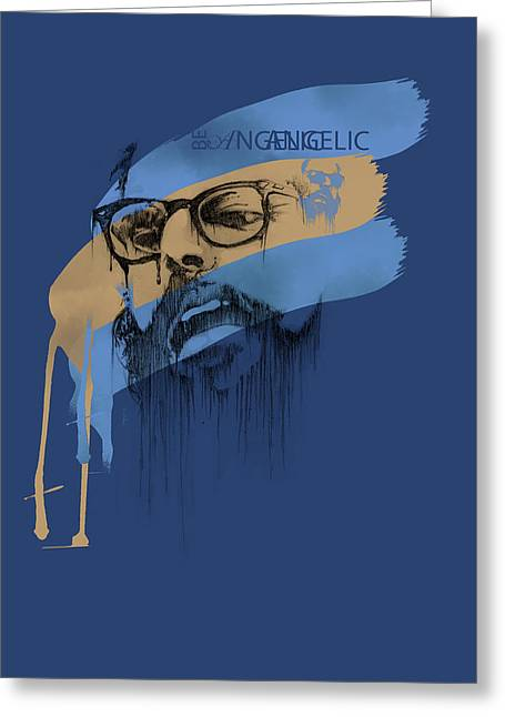 Philosopher Greeting Cards - Ginsberg Greeting Card by Pop Culture Prophet