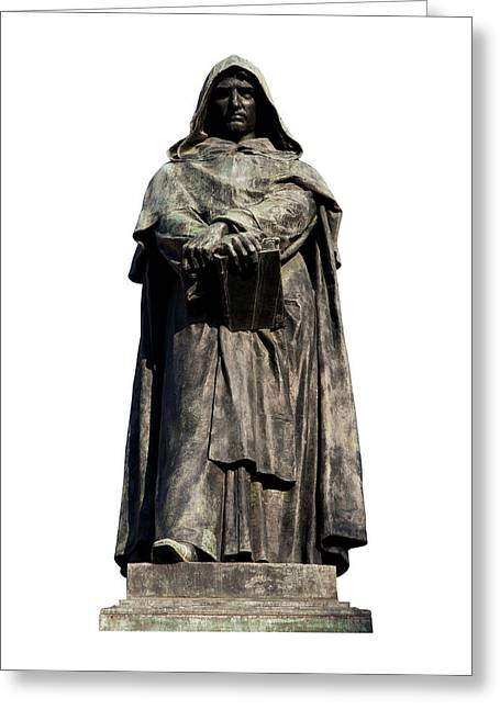 Astronomers Greeting Cards - Giordano Bruno Greeting Card by Fabrizio Troiani
