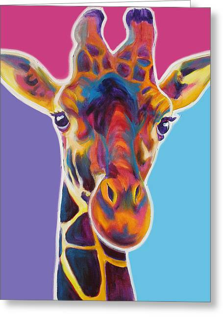 Alicia Vannoy Call Paintings Greeting Cards - Giraffe - Marius Greeting Card by Alicia VanNoy Call