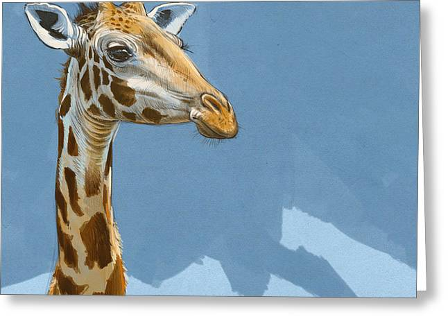Blaise Greeting Cards - Giraffe Greeting Card by Aaron Blaise