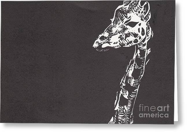 Giraffe Greeting Card by Alexis Sobecky