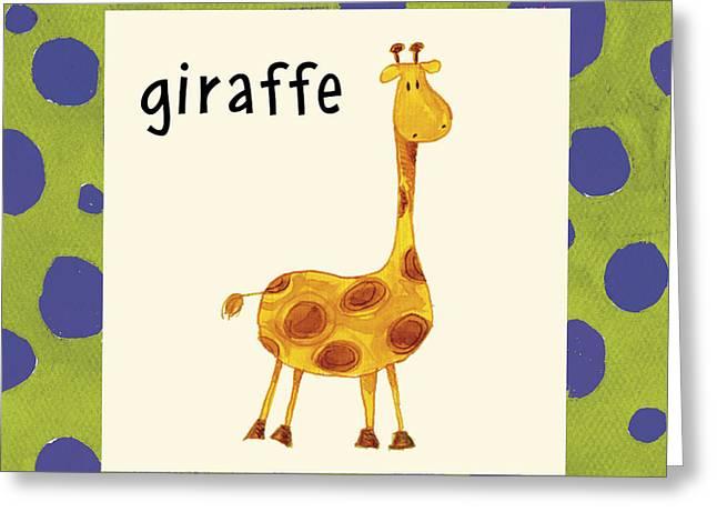 Juvenile Paintings Greeting Cards - Giraffe Greeting Card by Esteban Studio