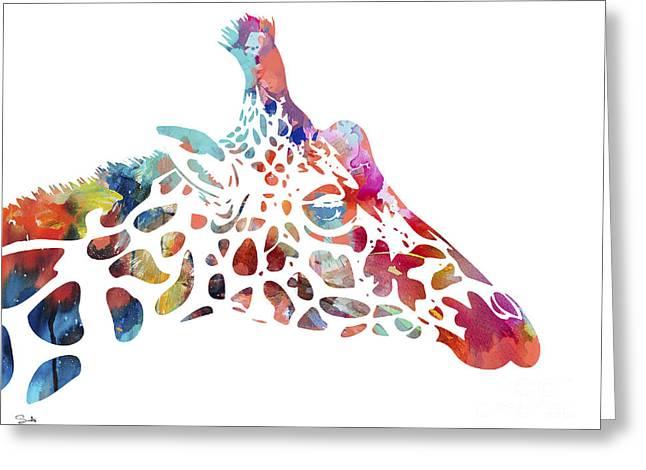 Archival Greeting Cards - Giraffe Greeting Card by Luke and Slavi