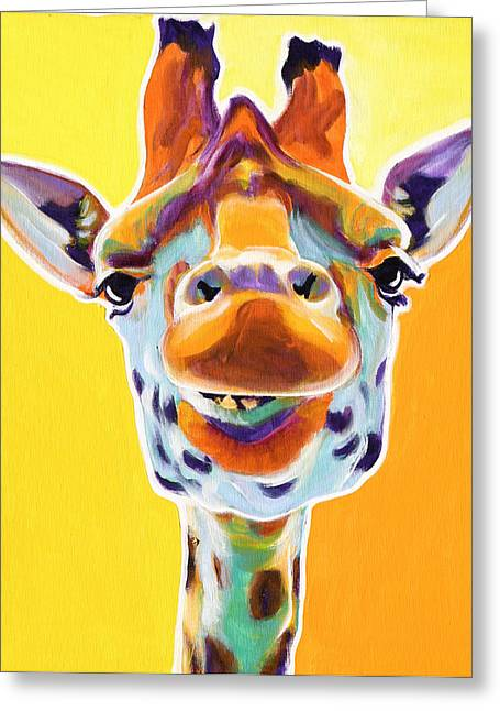 Alicia Vannoy Call Paintings Greeting Cards - Giraffe - Sunflower Greeting Card by Alicia VanNoy Call