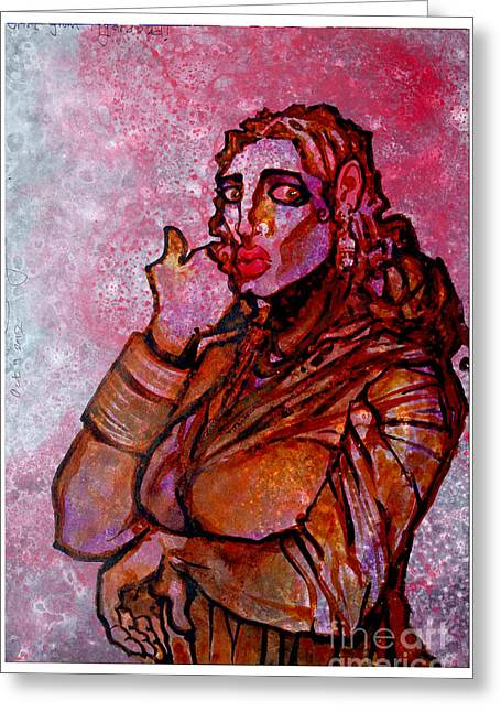 Installation Art Paintings Greeting Cards - Girl from Hydrabad Greeting Card by Sumit Banerjee