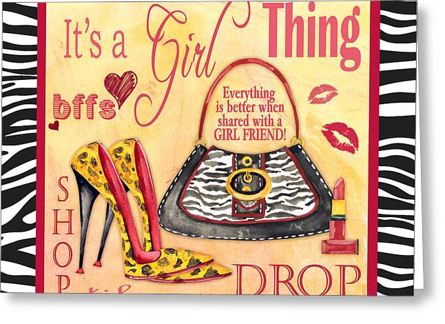 Girls Night Out Greeting Cards - Girl Thing-B Greeting Card by Jean Plout