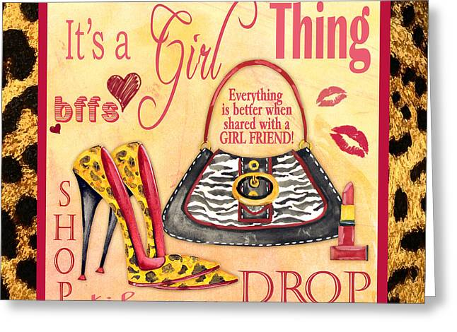 Girls Night Out Greeting Cards - Girl Thing-C Greeting Card by Jean Plout