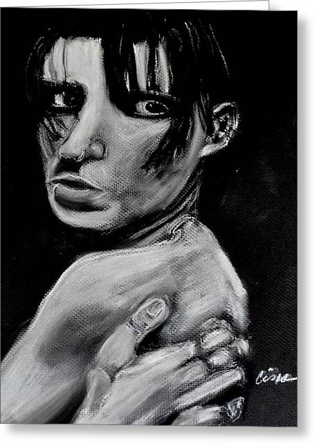 Impacting Pastels Greeting Cards - Girl With A Dragon Tattoo Greeting Card by Cisco Ramirez
