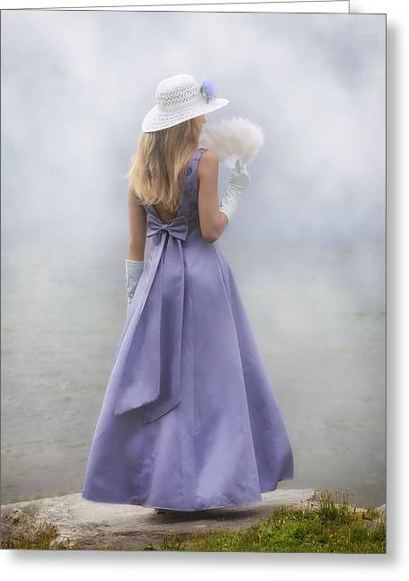 Sun Hat Greeting Cards - Girl With Fan Greeting Card by Joana Kruse
