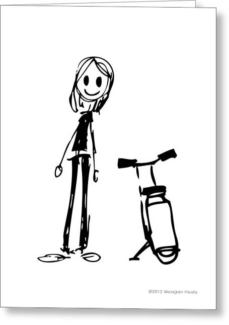 Character Design Greeting Cards - Girl with Scooter Greeting Card by Meagan Healy