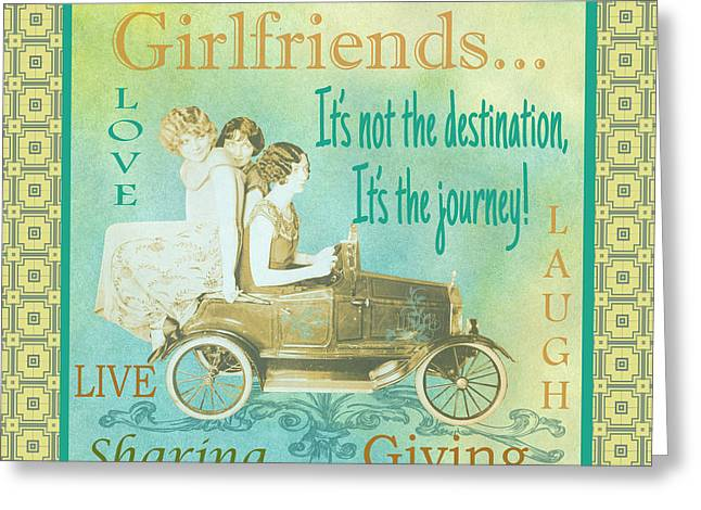 Girls Night Out Greeting Cards - Girlfriends-C Greeting Card by Jean Plout