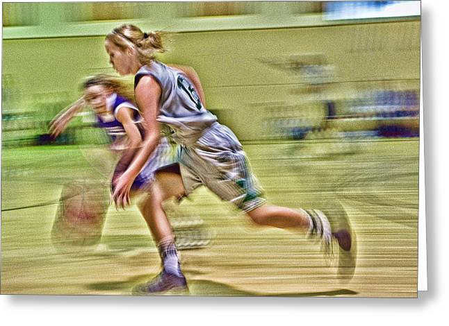Ron Roberts Photography Photographs Greeting Cards - Girls Basketball Greeting Card by Ron Roberts